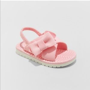Cat & Jack Eris Big Bow Slide Sandals Pink